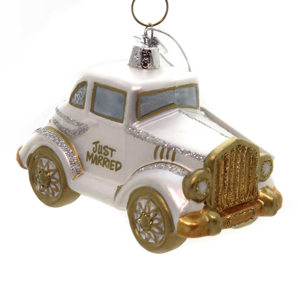 Noble Gems Wedding Car Glass Ornament