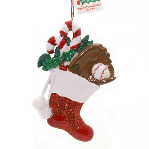 Holiday Ornaments Sports Sock Ornament Resin Ornament 33640