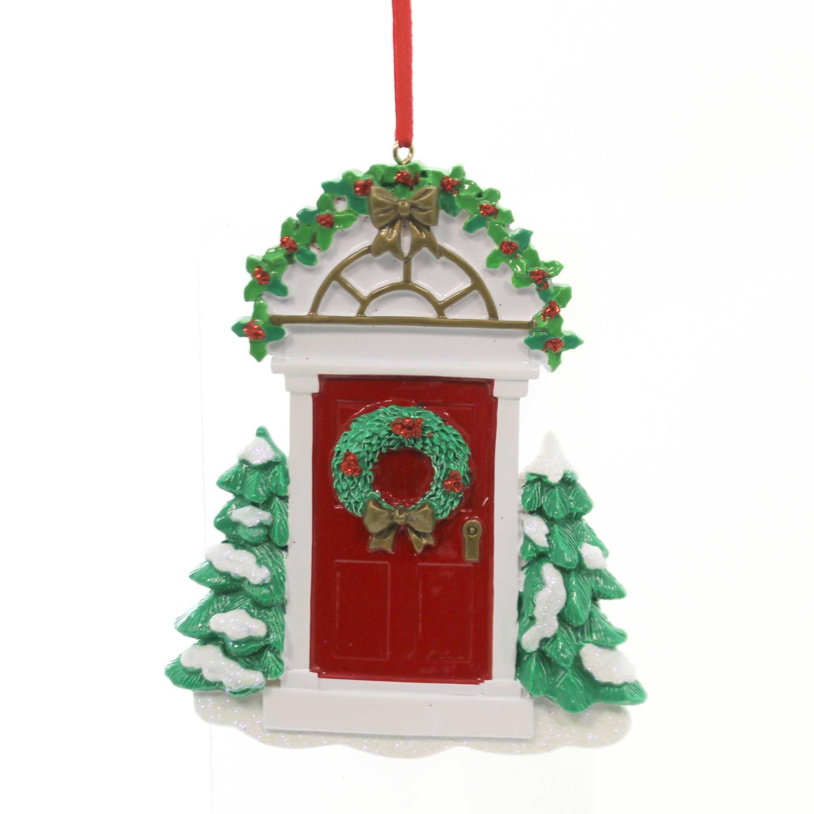 Resin Christmas Ornaments.Holiday Ornaments Red Door Polyresin Christmas House Rm17