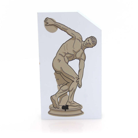 Cats Meow Village DISKOBOLOS SCULPTURE Wood Accessory Discus Thrower 148 Discus 33709