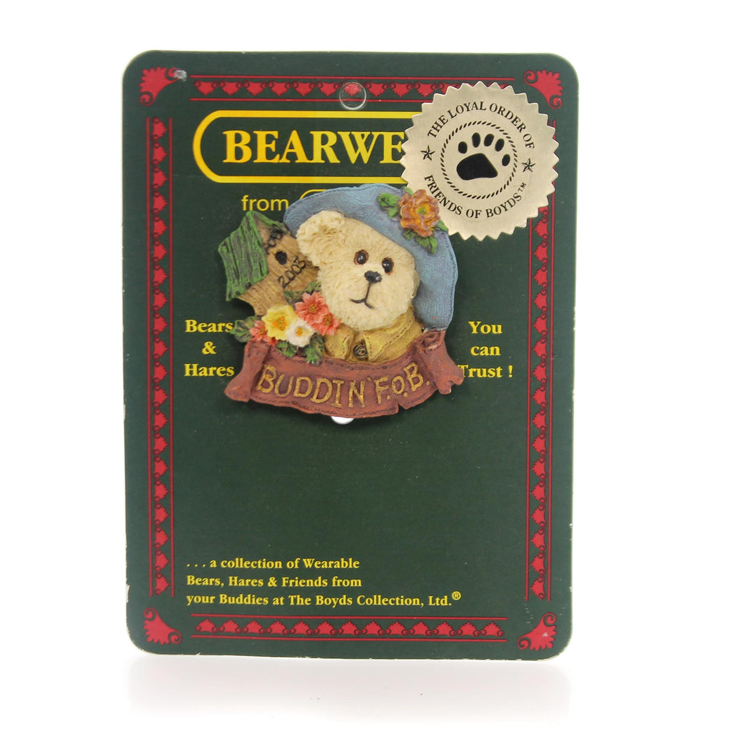 Boyds Bears Resin Buddin F.O.B.  Pin