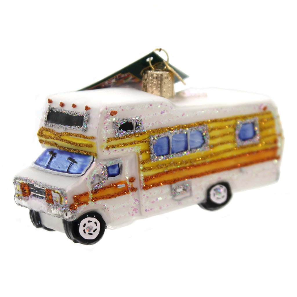 Old World Christmas Classic Motorhome Glass Ornament