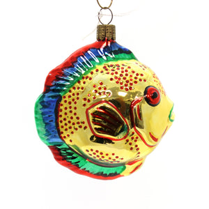 Holiday Ornaments Fish Glass Ornament