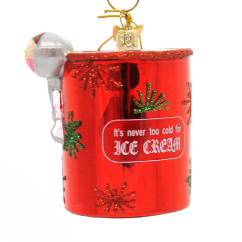 Holiday Ornaments Ice Cream Pint Noble Gem Glass Ornament 33814