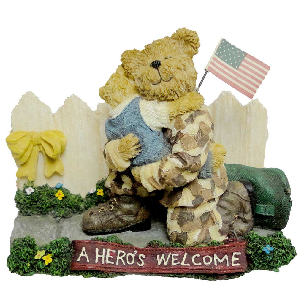 Boyds Bears Resin Greg W/ Mattie A Heros Home Figurine