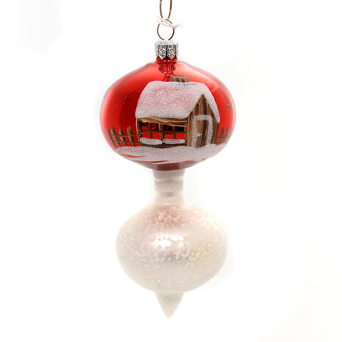 Holiday Ornaments WINTER DROP Glass Ornament Alpine Glitter Ta137 33902
