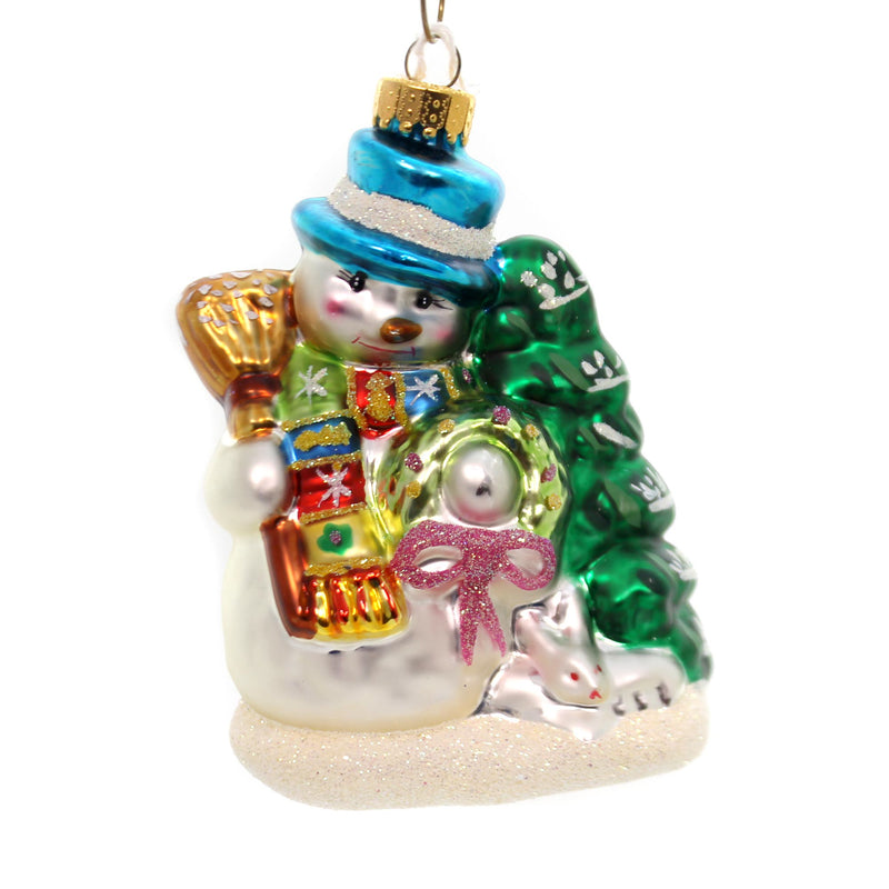 Holiday Ornaments Holiday Snowman Glass Ornament