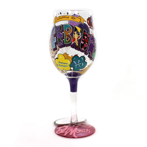 Tabletop FEBRUARY BIRTHDAY Glass Lolita Love My Wine 4058062 34024