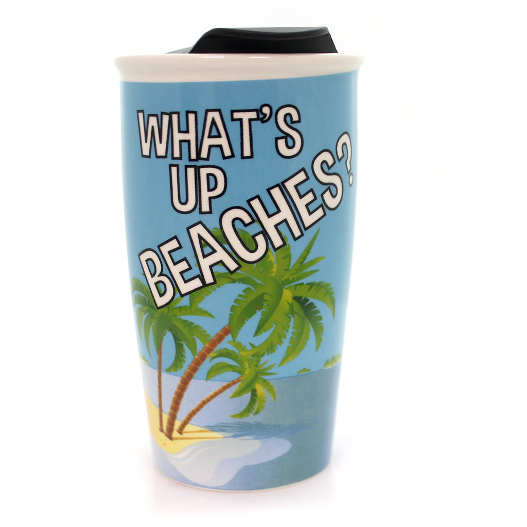 Tabletop What's Up Beaches Travel Mug Mug / Coffee Cup