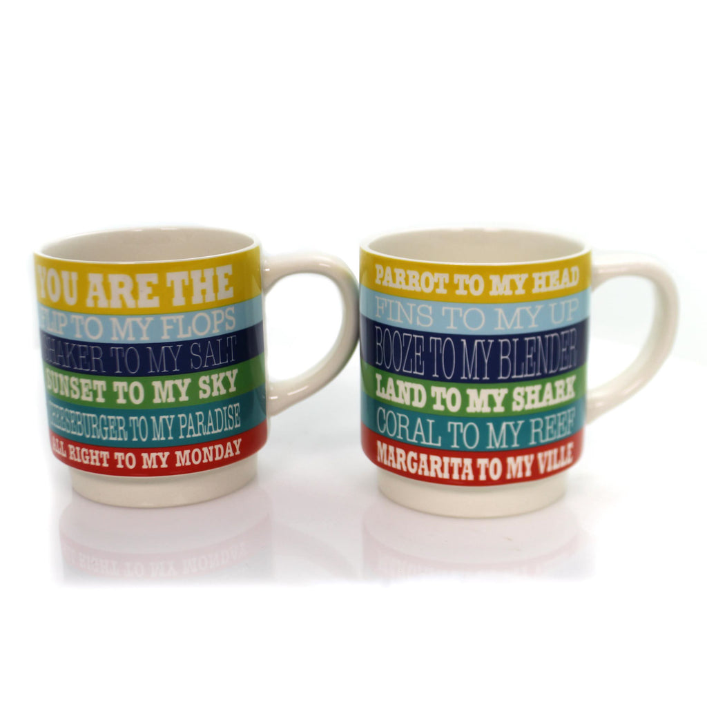 Tabletop Lyrics Stacking Mug Set Mug / Coffee Cup