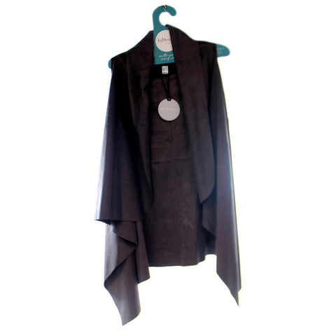 Apparel Charcoal Suede Vest Apparel 34046