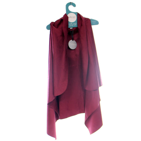 Apparel Wine Suede Vest Apparel 34047