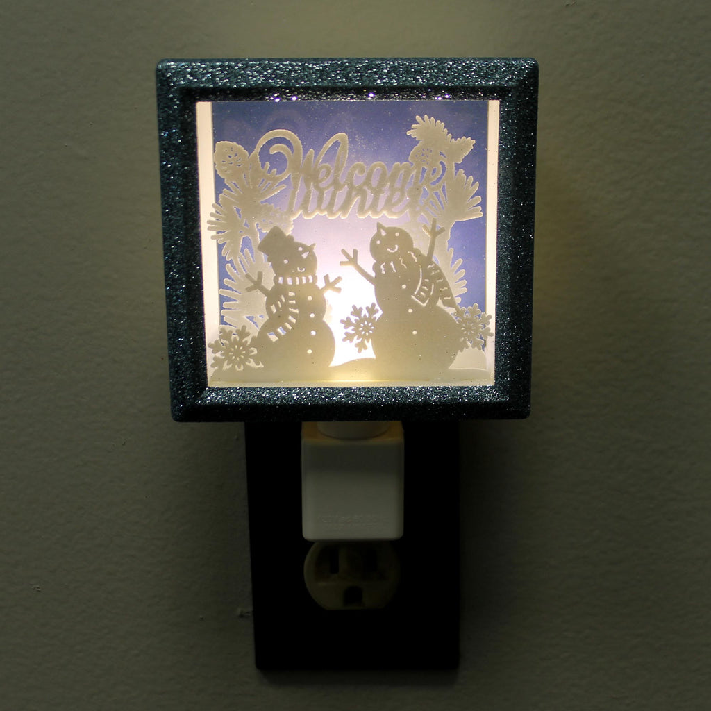 Home & Garden Snowman Shadow Box Night-Light Night Light