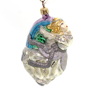 Slavic Treasures Rainbow Fling Angel - Pastel Glass Ornament
