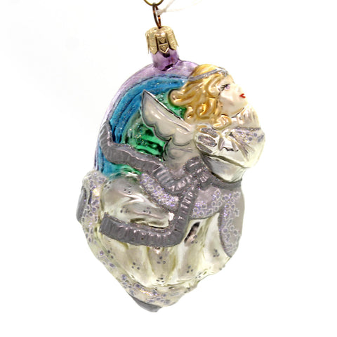Slavic Treasures RAINBOW FLING ANGEL - PASTEL Ornament Signed Angelic 02699 34202