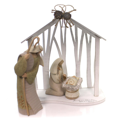 Christmas HOLY FAMILY CENTERPIECE Polyresin Legacy Of Love 4058561 34242