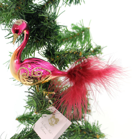 Golden Bell Collection MERLOT SWAN WITH GOLD Glass Clip-On Ornament Bird Br458 34518