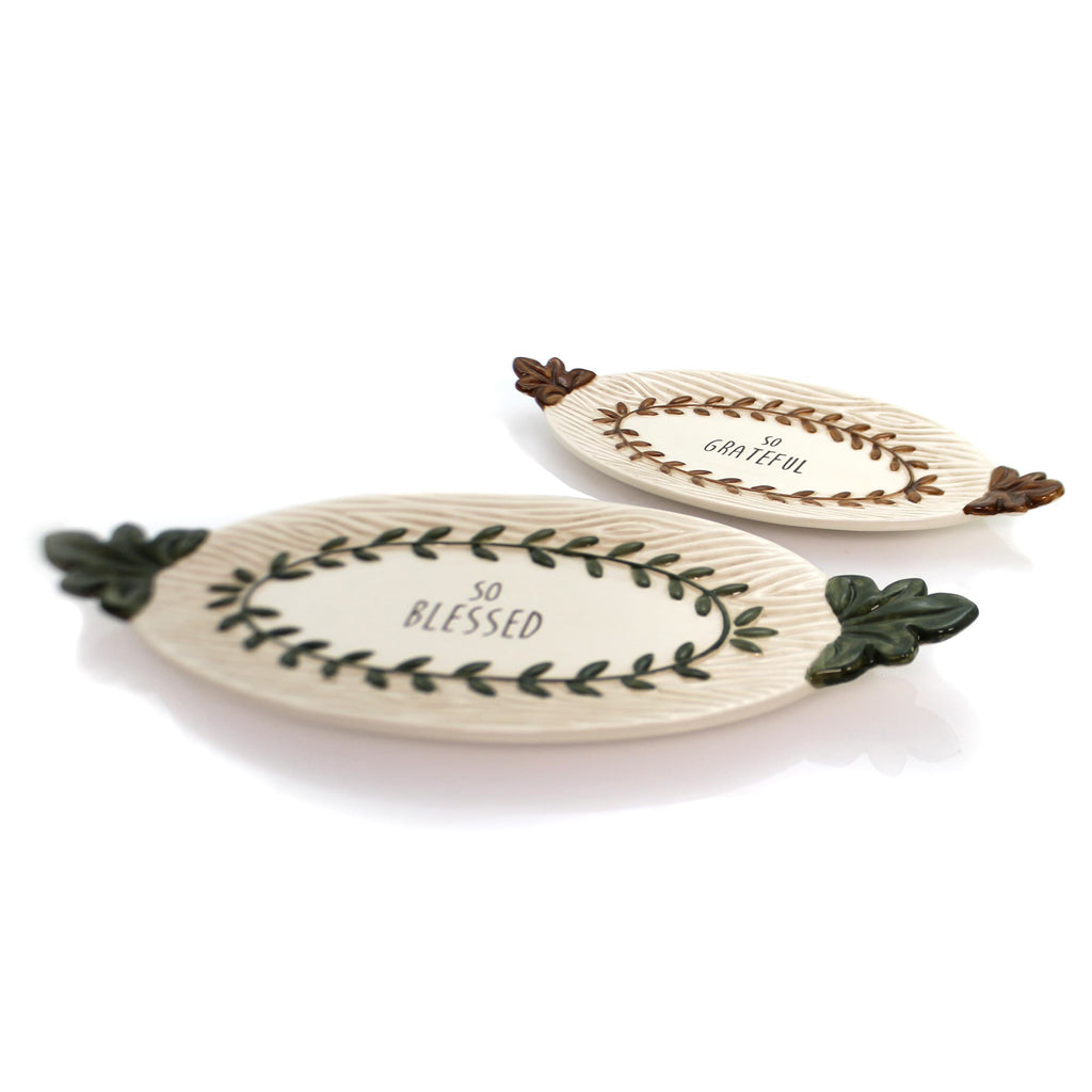 Tabletop Nested Trays Set Of 2 Christmas Tabletop