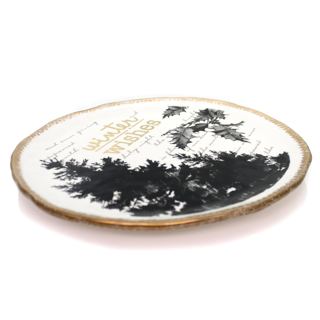 Tabletop WINTER WISHES PLATTER Ceramic Grasslands Road 473302