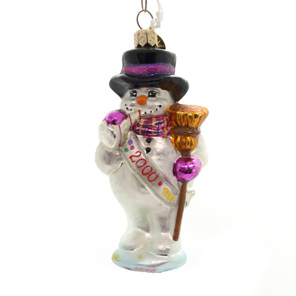 Christopher Radko Frosty Celebration Glass Ornament