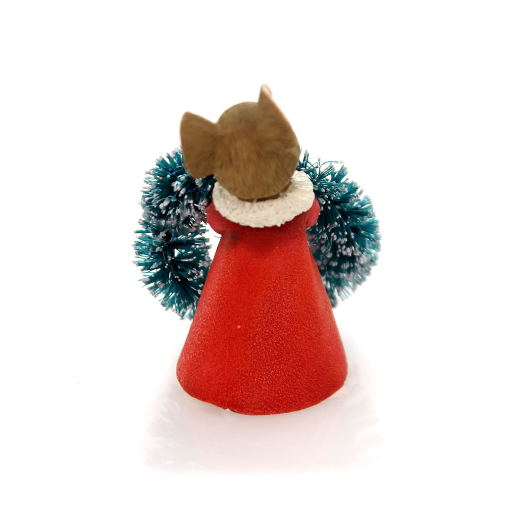 Christmas Mouse With Wreath Christmas Figurine
