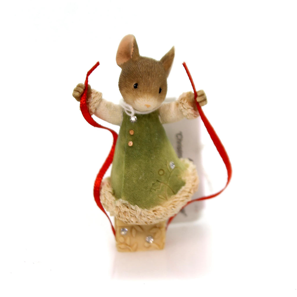 Christmas Mouse Wrapping Gift Christmas Figurine