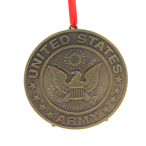 Holiday Ornaments U.S. ARMY METAL ORNAMENT Metal Military Patriotic Am9151 34702