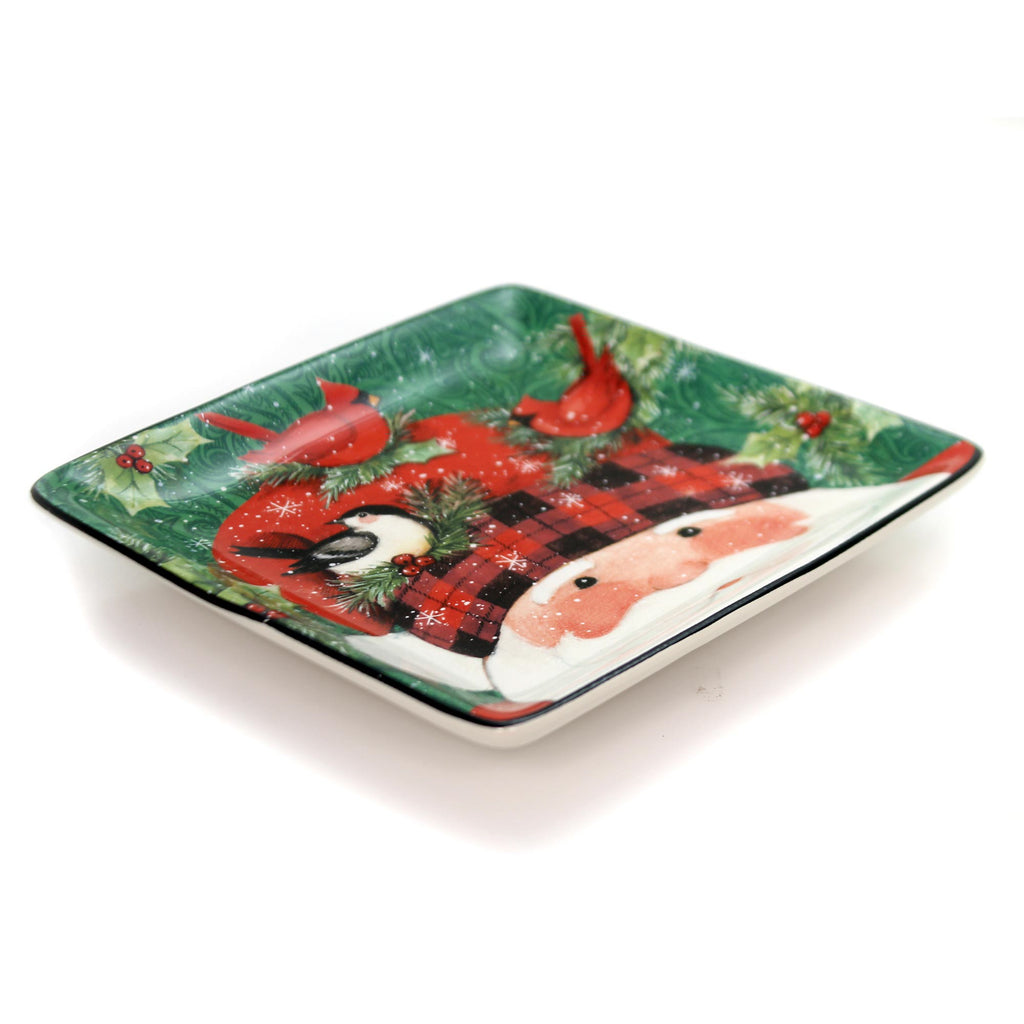 Tabletop Winter's Plaid Canape Plate Plate