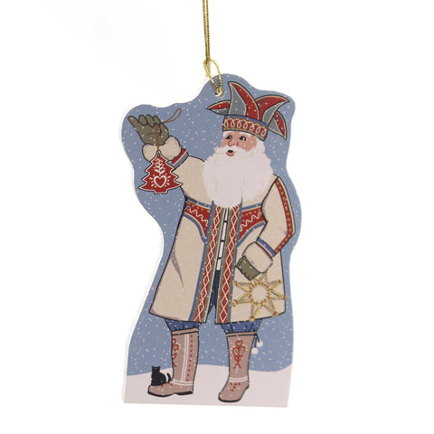 Cats Meow Village NORDIC SANTA ORNAMENT Wood 2017 Release 17695 34795
