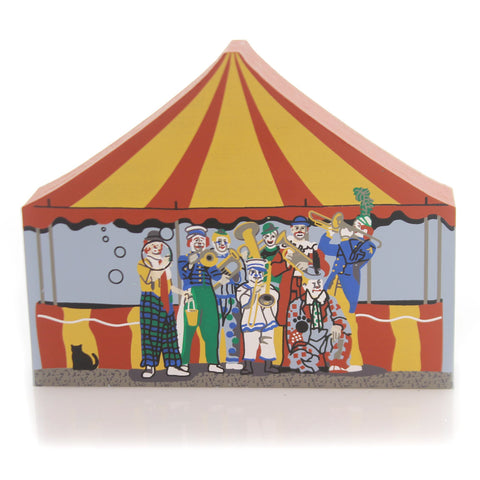 Cats Meow Village CLOWNS Wood Circus Series Retired 1998 3-4 34823