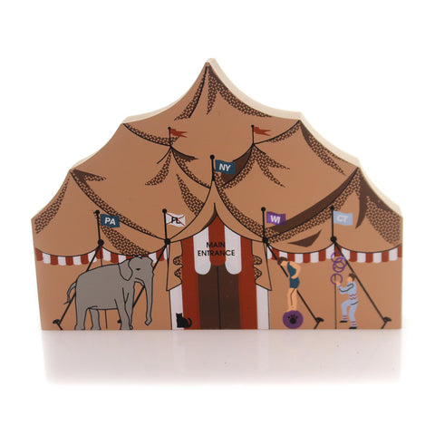 Cats Meow Village BIG TOP Wood Circus Series Retired 3-3 34824