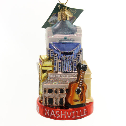 Old World Christmas NASHVILLE Glass Music City Grand Ole Opry 20097 34834