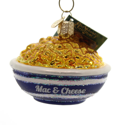 Old World Christmas Bowl Of Mac & Cheese Glass Ornament 34836