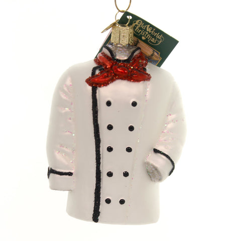 Old World Christmas Chef's Coat Glass Ornament 34849