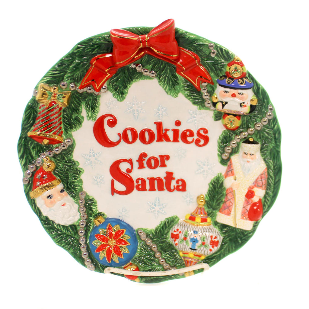 Christopher Radko WORKSHOP WONDERLAND PLATE Ceramic Christmas Holidays Cookie