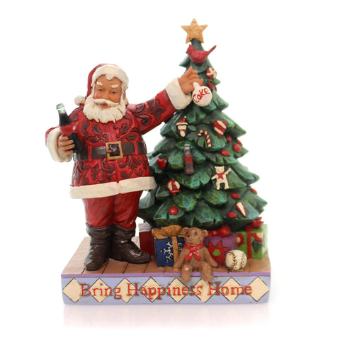 Jim Shore BRING HAPPINESS HOME Polyresin Santa Tree Coca-Cola 4059472 34927