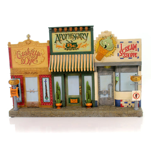 Halloween DEADWOOD STREET SHOPS Polyresin Apothescary I Scream Shoppe Ta9014 34973