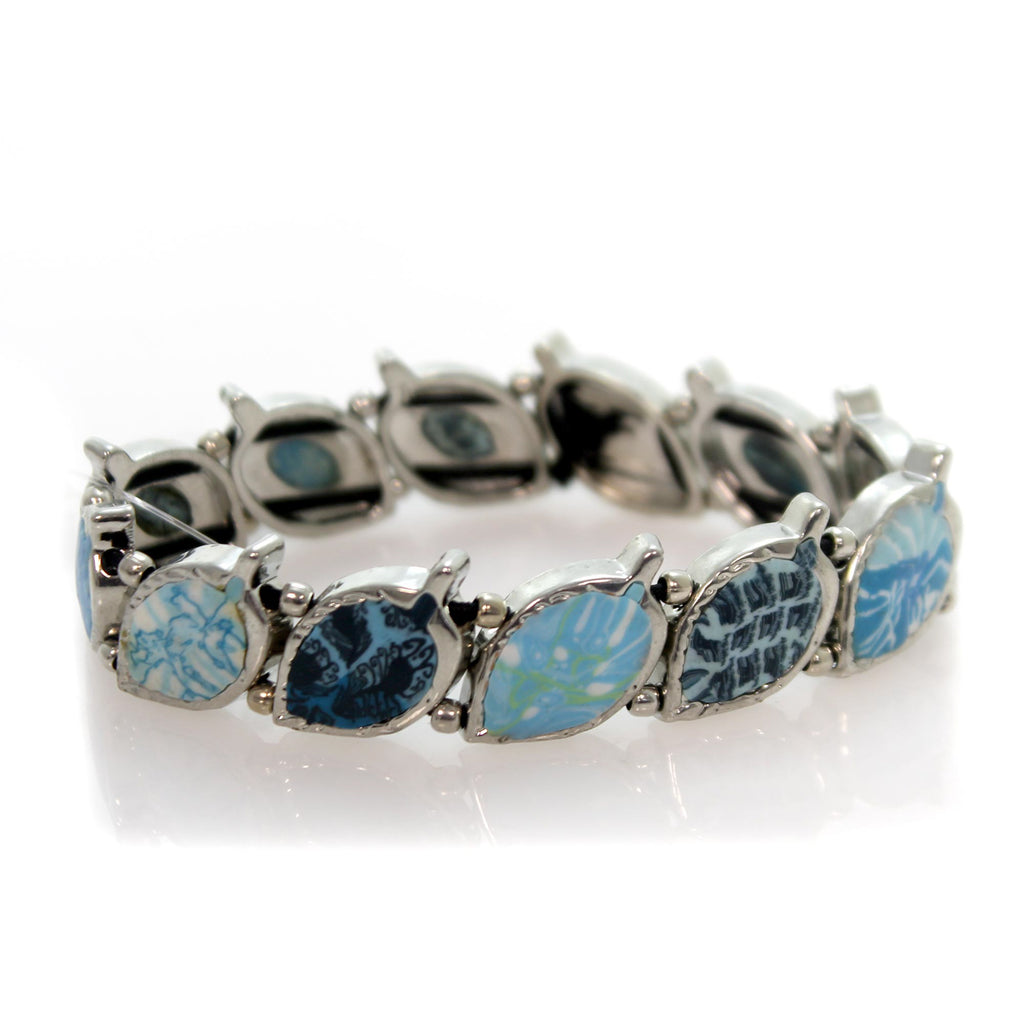 Jewelry Blue Brook Leaf Bracelet Bracelet
