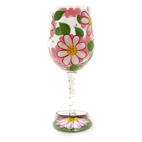 Tabletop OOPS I DAISIED AGAIN LOLITA WINE GLASS Glass Hand Painted 6000026 35469
