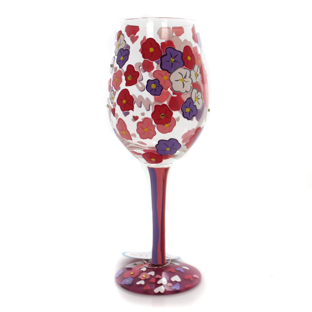 Tabletop I Love You Mom- Love My Wine Wine Glass
