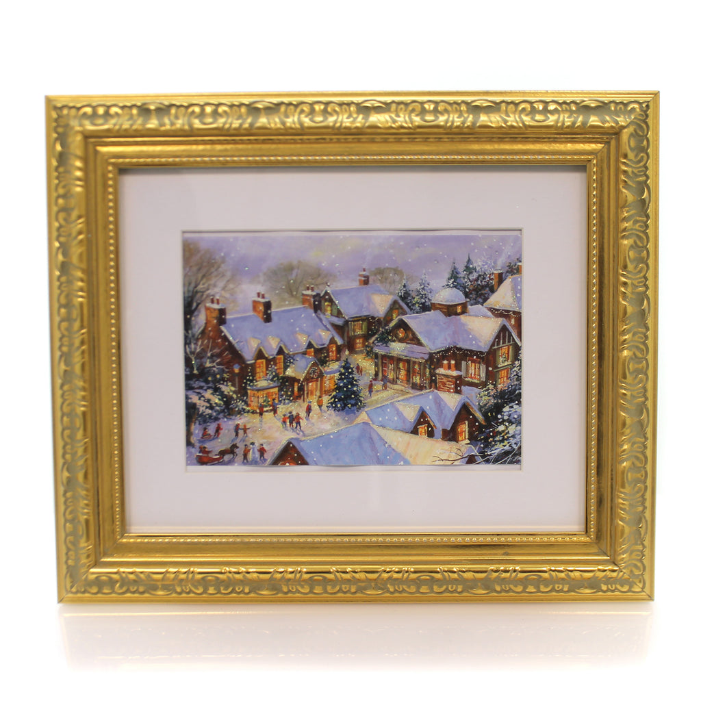 Christmas Village Framed Picture Frame
