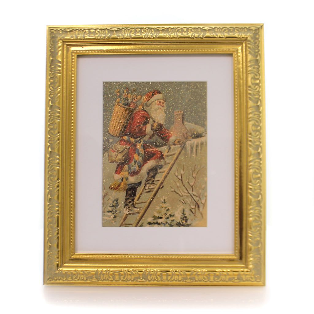 Christmas Rooftop Santa Framed Picture Frame