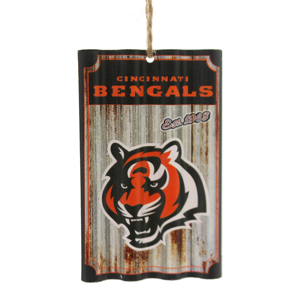 Holiday Ornaments Cincinnati Bengals Tin Ornament Resin Ornament