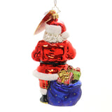 Christopher Radko Santa's Helper Glass Ornament