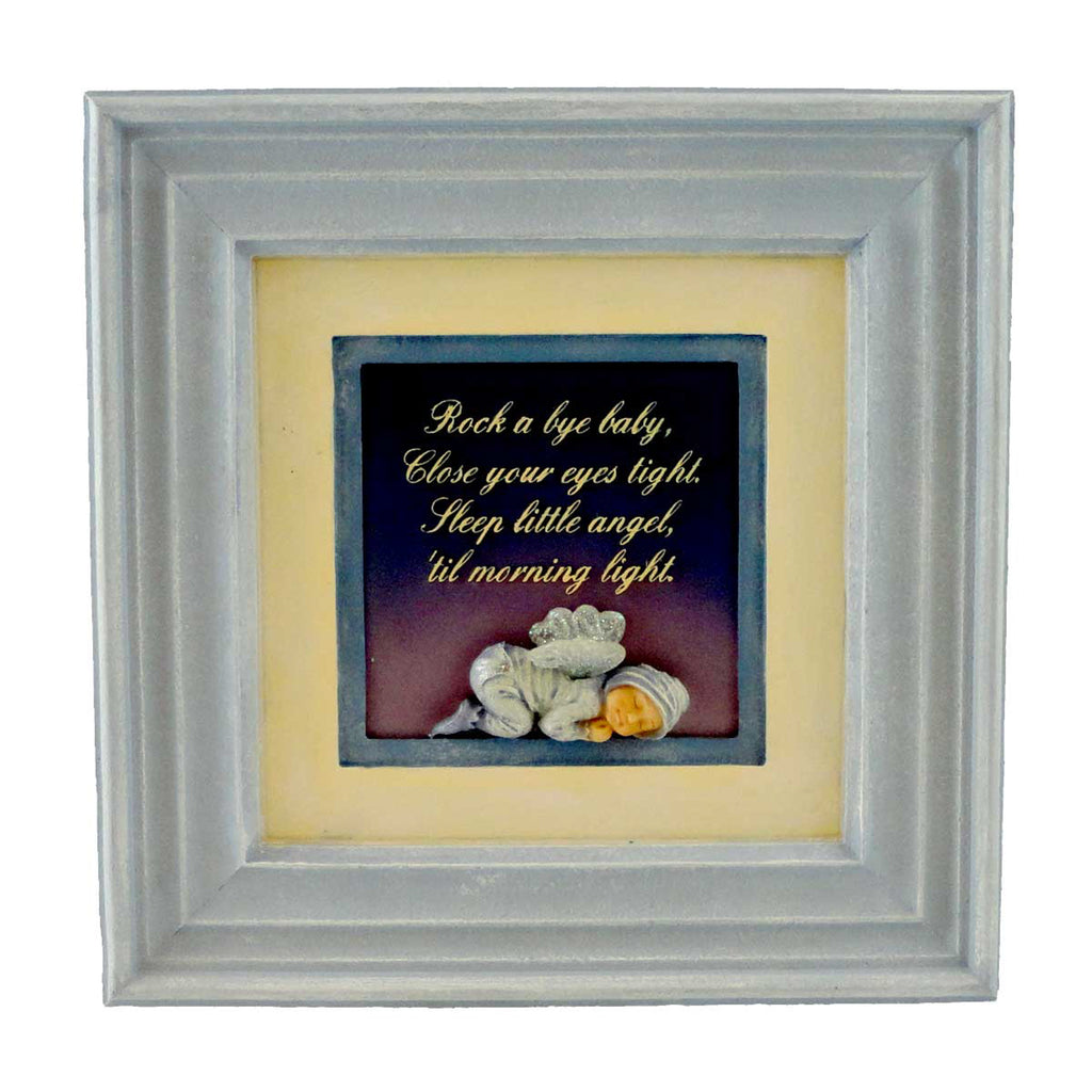 Boyds Bears Resin HUSH A BYE WALL PLAQUE BLUE Baby Faerietots 362500 Rfb Xx
