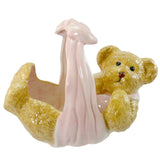Boyds Bears Resin Lullaby Bear Pink Basket Figurine