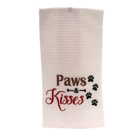 Tabletop Paws & Kisses Towel Linens 36105