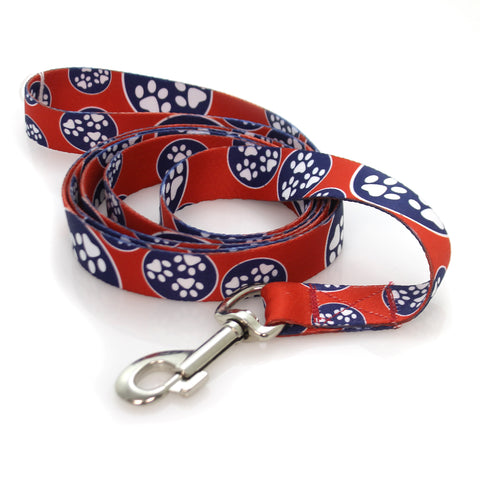 Animal DOG LEASH Fabric Dog Walking Leash Lg Paw 36143
