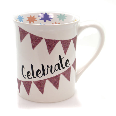 Tabletop CELEBRATE GLITTER MUG Ceramic Our Name Is Mud 6001217 36230