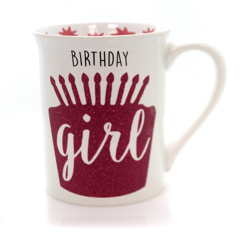 Tabletop Birthday Girl Glitter Mug Mug / Coffee Cup 36271